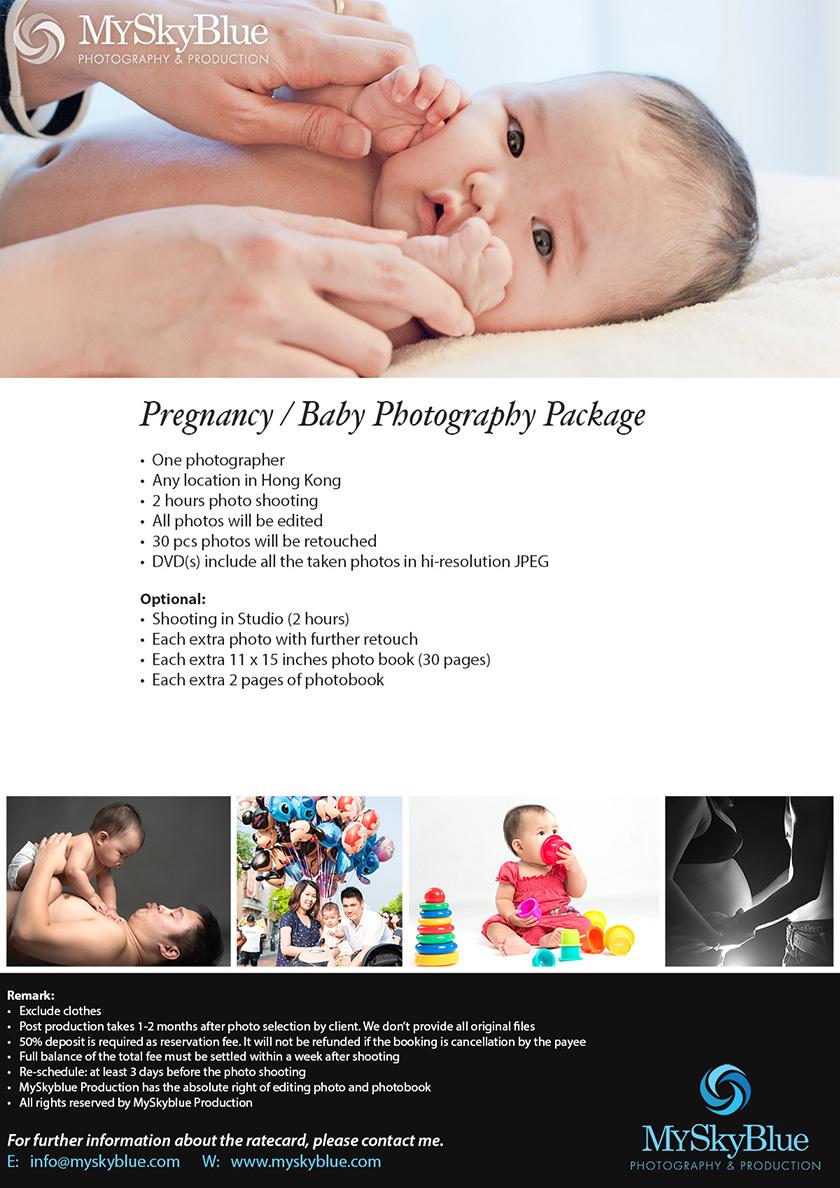MySkyblue, Rate Card,  Pregnancy photo, Baby photo, Family photo